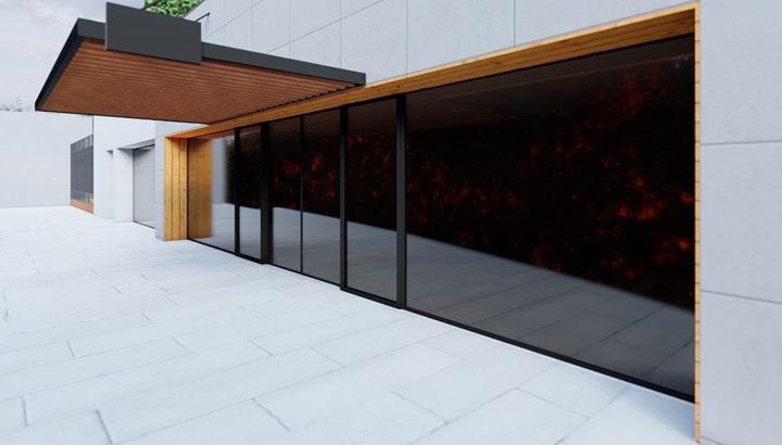 طراحی محوطه و در ورودی ساختمان - بعد