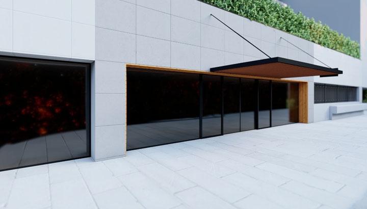 پروژههای دکوباغ - طراحی محوطه در ورودی ساختمان